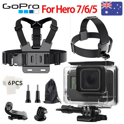 For GoPro Hero 7 6 5 Accessories Waterproof Hosing Case Head STrap Chest Harness