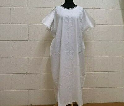 Antique Cotton Night Gown Pretty Lace Early 20th Century- Beautiful Condition.
