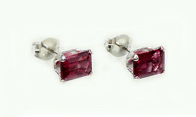 "19thC Antique Handcrafted Norway Rhodolite Bohemian Gypsy ""Cape Ruby"" Earrings"