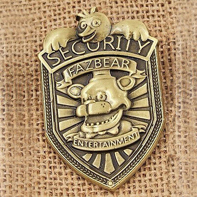 Alloy Five Nights at Freddy's FNAF Fazbear Security Badge Pin CA