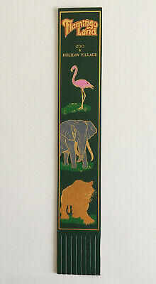Flamingo Land Leather Bookmark, Zoo & Holiday Village With Gold Effect Gilding