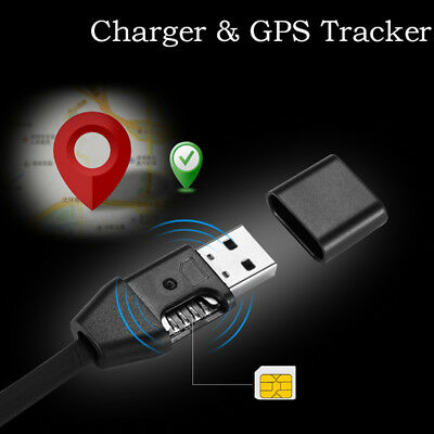 Car Chargers Gps Tracker Micro Usb Cable Real Time Gsm/Gprs Tracking w/