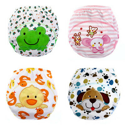 Childs Potty Training Pants Cotton Washable Nappy Diaper Kid Toddler Waterproof