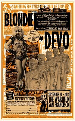BLONDIE & DEVO VINTAGE BAND ALTERNATIVE ROCK CONCERT MUSIC POSTERS A3 300gsm