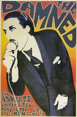 THE DAMNED VINTAGE BEST BAND ALTERNATIVE ROCK CONCERT MUSIC POSTERS A4 300gsm
