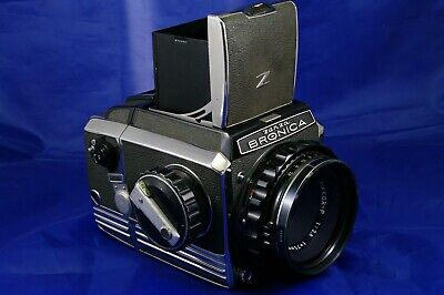 Bronica Zenza medium format 6x6 Film SLR Camera Nikon Nikkor-P f2.8 75mm Lens