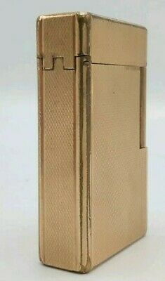 Accendino Lighter DUPONT PARIS FRANCE collezione PLAQUE OR oro gold 20 microns