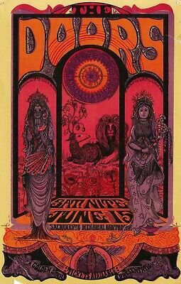 THE DOORS VINTAGE BEST BAND ALTERNATIVE ROCK CONCERT MUSIC POSTERS A3 300gsm