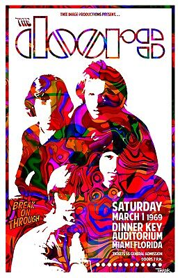 THE DOORS V2 VINTAGE BEST BAND ALTERNATIVE ROCK CONCERT MUSIC POSTERS A4 300gsm