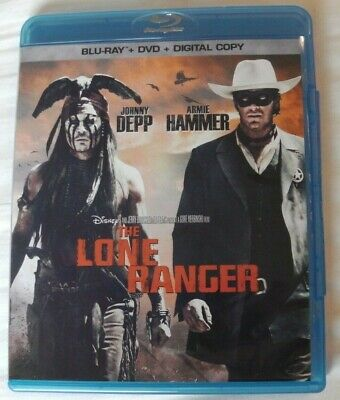 The Lone Ranger - Disney (Blu-ray, 2013) Johnny Depp, Armie Hammer * READ *