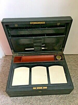 Antique Leather Bound Campaign Writing Slope Travelling Writing Chest Loft Find