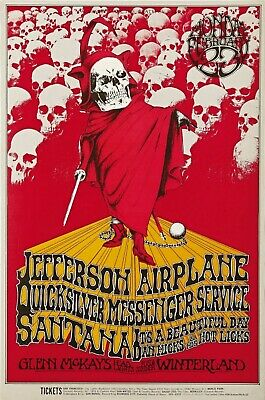 0444 VINTAGE MUSIC Poster Art - Jefferson Airplane San