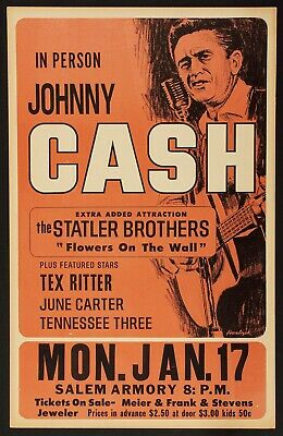 JOHNNY CASH VINTAGE BEST BAND ALTERNATIVE ROCK CONCERT MUSIC POSTERS A4 300gsm
