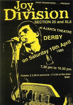 JOY DIVISION VINTAGE BEST BAND ALTERNATIVE ROCK CONCERT MUSIC POSTERS A4 300gsm