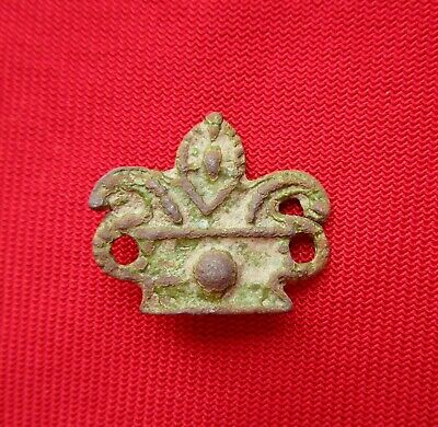 Ancient Celtic  Bronze Openwork Amulet Pendant - 300 Bc - Wearable