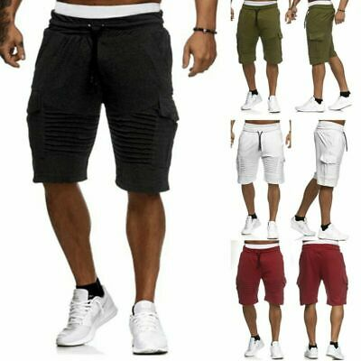 Mens Smart Casual Cotton Work Beach Summer Holiday Chino Short Cargo Half Pant