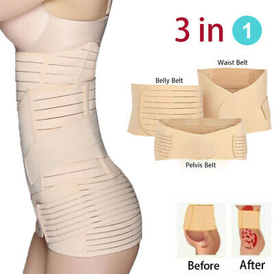 3 In1 Postpartum Recovery Belly corset Tethered abdomen Wrap Waist Belt Shaper