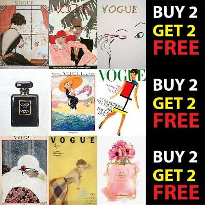 Chanel Vogue Fashion Designer Vintage Poster Print Wall Art Deco A4 A3 Posters