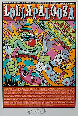 LOLLAPALOOZA V2 VINTAGE BAND ALTERNATIVE ROCK CONCERT MUSIC POSTERS A3 300gsm