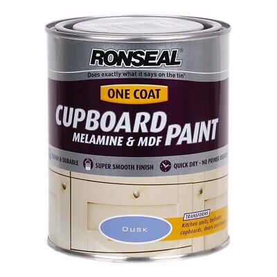 Ronseal One Coat Cupboard Melamine & MDF Paint - Dusk - 750ml