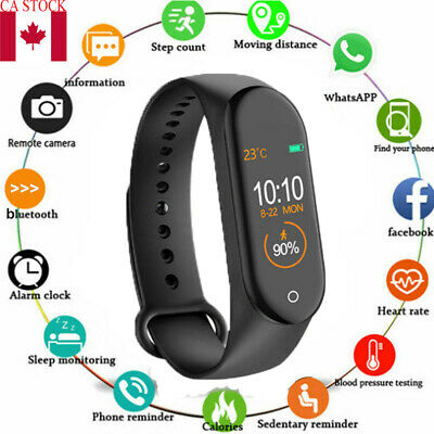 Smart Watch Waterproof Sport Heart Rate Blood Pressure Monitor for iOS Android