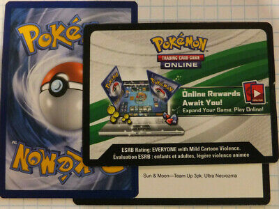 Pokemon 2x TCG Online SM Team up 3pk: Ultra Necrozma Codes only by Email