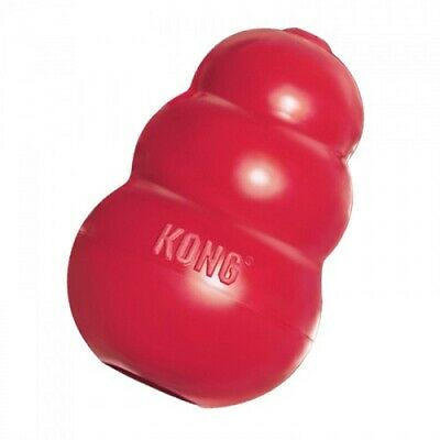 KONG Red Classic Dog Toy For Dogs Ball Chew Medium