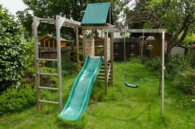 Used Dunster House Climbing Frame Monkey Fort Wilderness 2