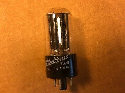 Vintage 1951 GE 5Y3GT Rectifier Tube USA Black Plate tests good balanced