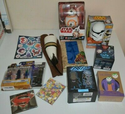 Large Lot Marvel, DC, Star Wars & Loot Crate Items - All Brand New