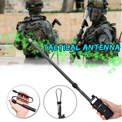 Tactical Antenna SMA-Female Dual Band VHF UHF 144/430Mhz For Baofeng UV-5RFAA