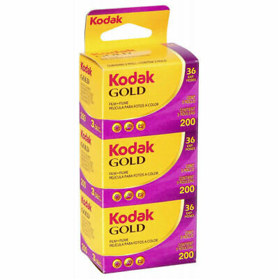 3 x Genuine Kodak Gold 200 Film Pack 135 35mm (36 Exposures) BNIB
