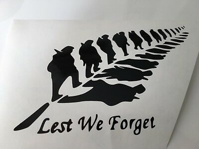 panels bumpers BLACK LEST WE FORGET LH,car decal// sticker for windows