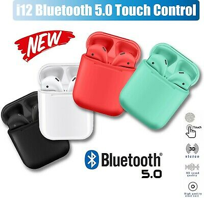 NEW 2019 i12 TWS Bluetooth Wireless Smart Touch Control Headphone AirPods Style