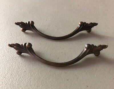 """Pair of Vintage Ornate Antique Brass Victorian Drawer Pull 3"""""""