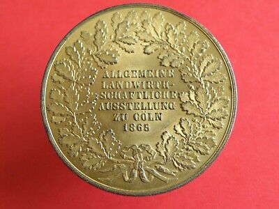 Historical Medal - COLOGNE GERMANY - 1865 AGRICULTURAL EXHIBITION MEDAL (OS01)