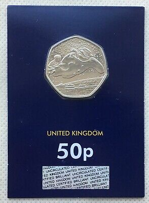 The Snowman Christmas 50p Fifty Pence Coin 2018 - Brilliant Uncirculated - BUNC
