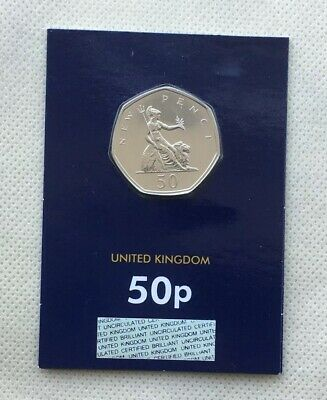 2019 'New Pence' 50p Coin - Fifty Years of 50p  Set- Brilliant Uncirculated BUNC