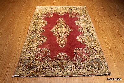 ON SALE 4x6 ft. Authentic Persian VINTAGE Kirman circa 1930's floral rug