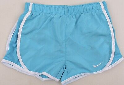 NIKE Dri-Fit Girl's Running Performance Shorts, Chlorine Blue, size 6 Years