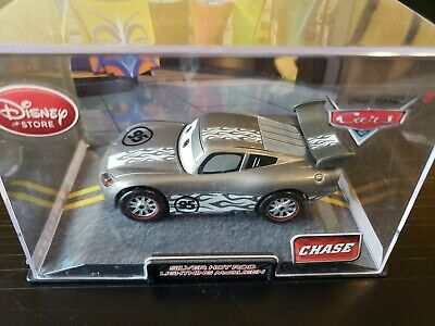 Disney Store Cars Exclusive SILVER HOT ROD Lightning McQueen Pixar Chase