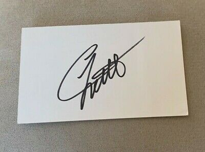 Chad Little Signed 3x5 Index Card NASCAR Winston Cup Autograph