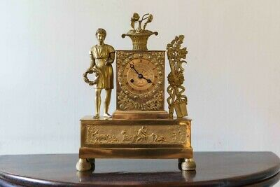 Superb early 19th century ormolu french 8 day mantle clock with silk suspension.