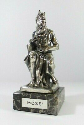 Mosè of Michelangelo Silverware Morpier Florence Silver plated sculpture figurin