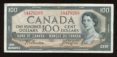 1954 Bank of Canada $100 - Beattie - Coyne Signatures - BC-43a - Face Value Sale