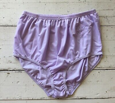 7f6a39e90c30 Vtg 12 Rene Rofe High Waist Granny Panties Purple Shiny Wet Look Satin Sissy