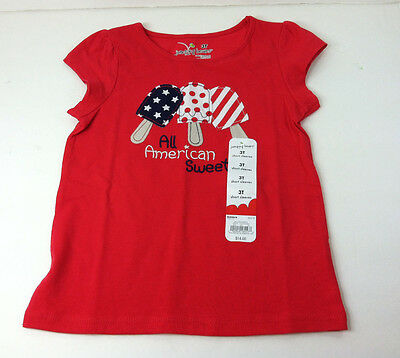 NWT Jumping Beans Popsicle Red Tee T-Shirts Short Sleeve Toddler Sz. 3T New