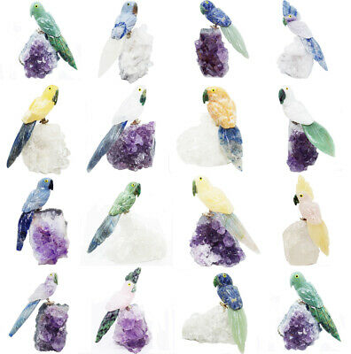Wholesale Bulk Stone carved Bird Amethyst or Crystal Base choose from 20 options