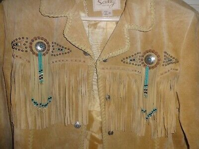 New Women/'s Scully Boar Suede Fringe Western Cowgirl Rodeo Jacket Chocolate