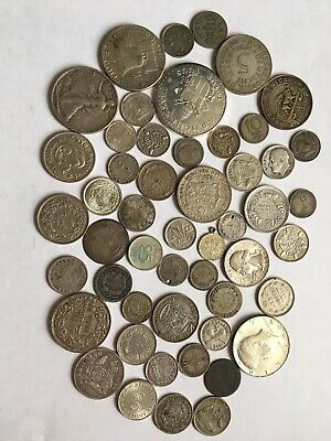 World Lots Of Silver Coins 195 G